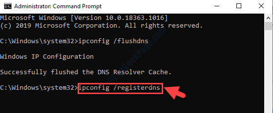 Command Prompt Admin Mode Run Command To Register Dns