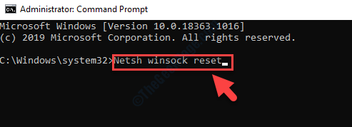 Command Prompt Admin Mode Run Command To Reset Winsock