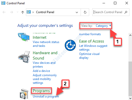 Control Panel Home View By Category Programs Uninstall A Program