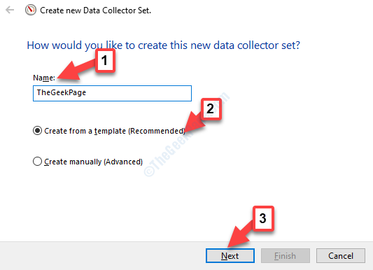 Create New Data Collector Set Wizard Folllow Instructions To Create N Ew Template