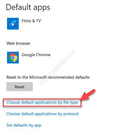 Default Apps Choose Default Applications By File Type