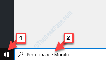 Desktop Start Search Performance Monitor