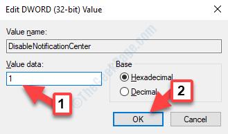 Edit Dword (32 Bit) Value Value Data Ok