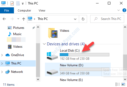 File Explorer This Pc Right Side C Drive