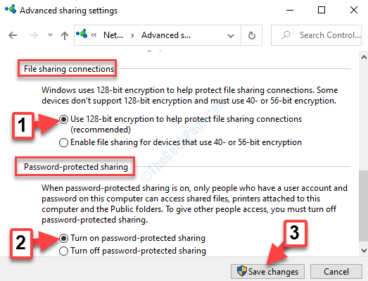 File Sharing Connections Enable Use 128 Bit Encryption Password Protected Sharing Enable Turn On Password Protected Sharing