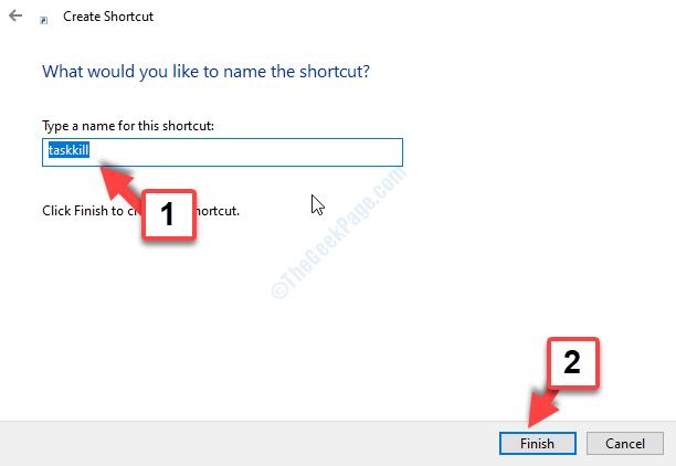 Name The Shortcut Finish