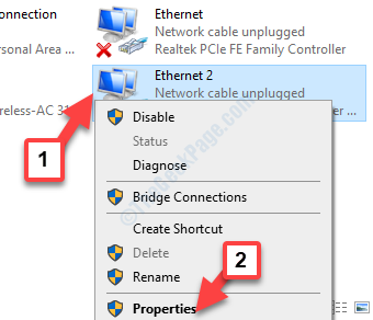 Network Connections vpn Adapter Right Click Properties