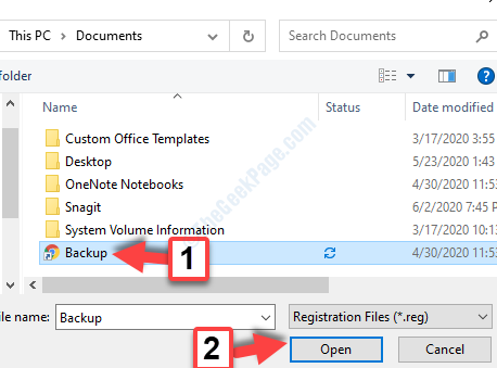 Registry Editor Import Backup Open