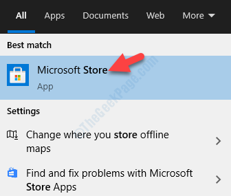 Result Left Click Microsoft Store