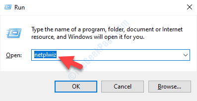 Run Command Search Netplwiz Ok