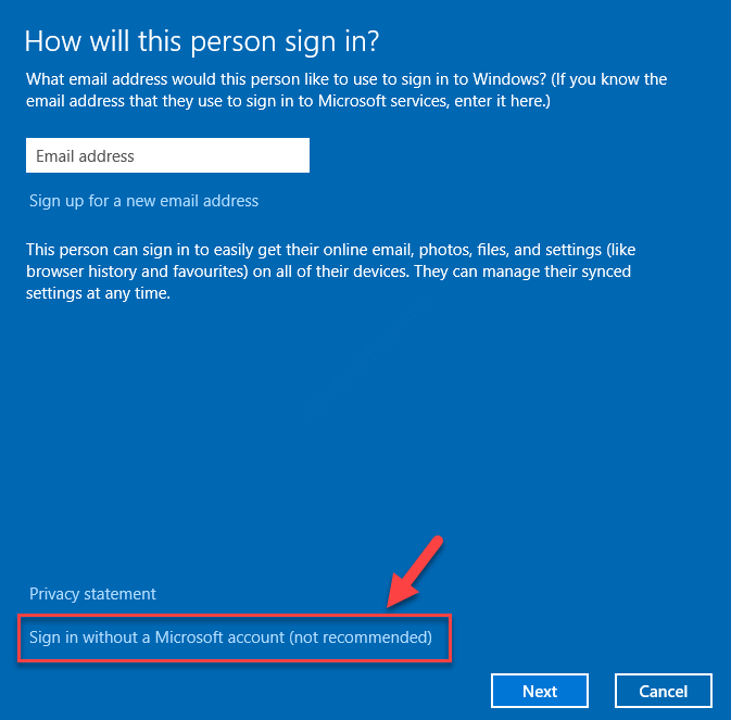 Sign In Without A Microsoft Account