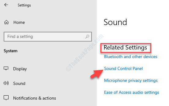 Sound Settings Right Side Related Settings Sound Control Panel