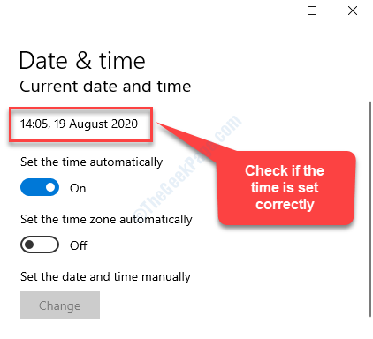 Time & Language Date & Time Check If Time Is Set Correctly