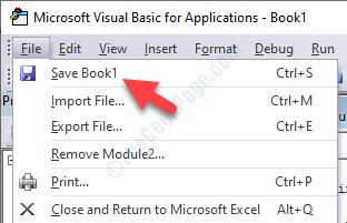 Vba Editor File Tab Save Book1