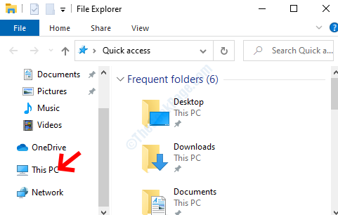 Win + E File Explorer Left Side This Pc