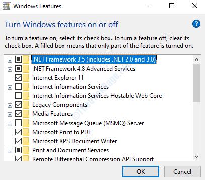 Windows Features .net Framework 4.8 Advanced Services Check Ok