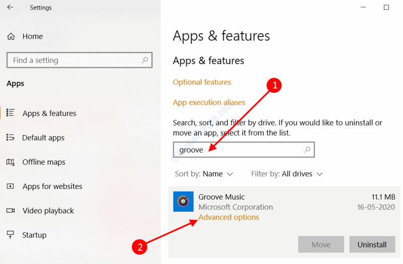 Advanced Features Groove