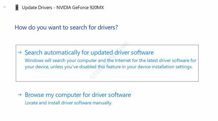 Auto Search Driver