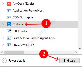 Cortana Task Manager