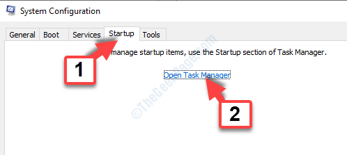 Msconfig Startup Tab Open Task Manager