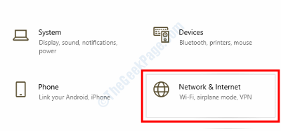 Network Internet Settings