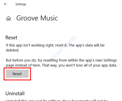 Reset Groove