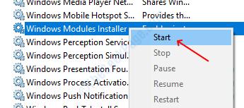 Start Windows Module