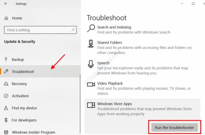 Win Store Troubleshooter