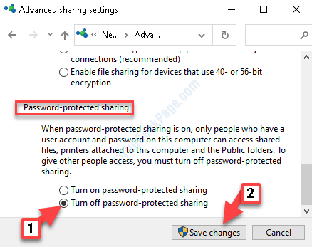 Advanced Sharing Settings Password Protected Sharing Turn Off Password Protected Sharing