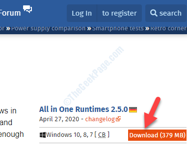 All In One Runtimes Download Open Link In Browser Download