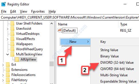Allupview Right Side Right Click New Dword (32 Bit) Value