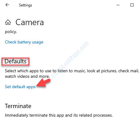 Camera Advanced Options Defaults Set Default Apps