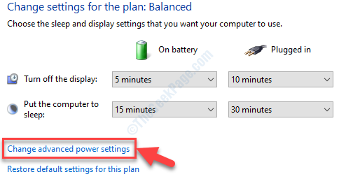 Change Plan Settings Change Advanced Power Settings