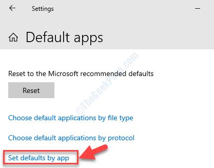 Choose Default Applications Set Defaults By App