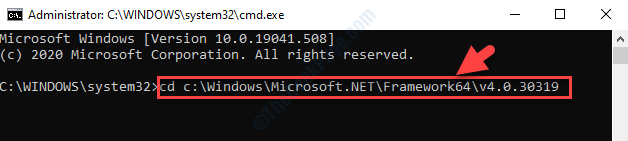 Command Prompt (admin) Run Command Based On System Type Enter
