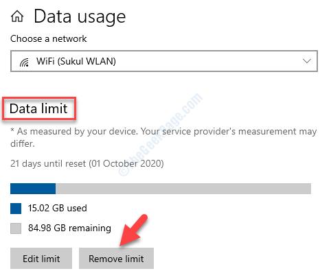 Data Limit Remove Limit