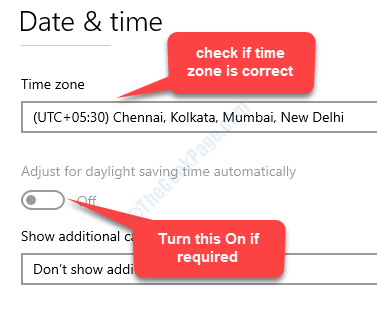 Date & Time Check If Time Zone Correct Adjust For Daylight Saving Time Automatically Turn On