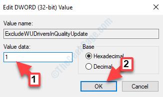 Edit Dword (32 Bit) Value Value Data 1 Ok