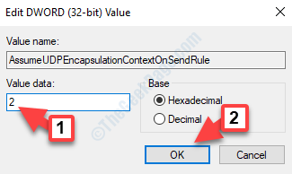 Edit Dword (32 Bit) Value Value Data 2 Ok