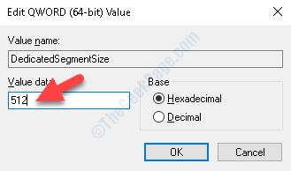 Edit Value Value Data Change Value To 512mb Ok
