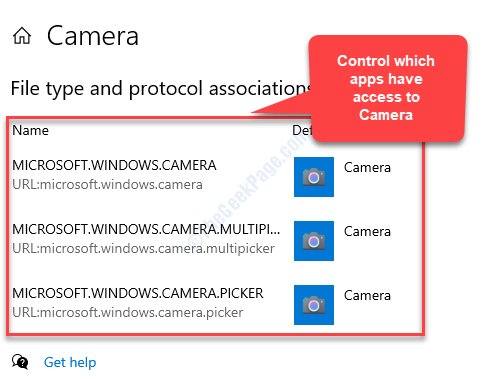 File Type And Protocol Association Control Which Apps Have Access To Camera