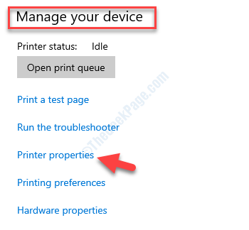 Manage Your Device Printer Properties