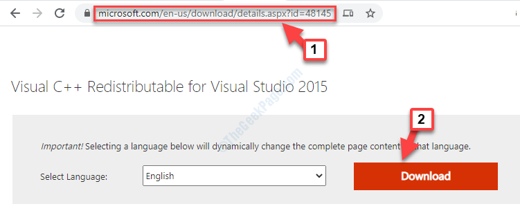Microsoft Official Download Page Link For Dll File Download