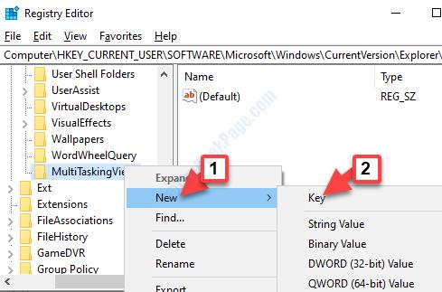 Multitaskingview Right Click New Key
