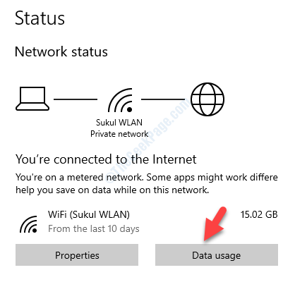 Network & Internet Right Side Status Data Usage