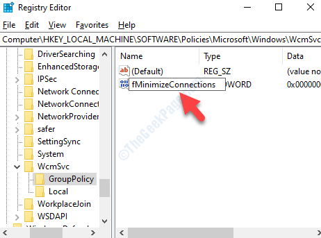 New Dword Value Rename Fminimizeconnections