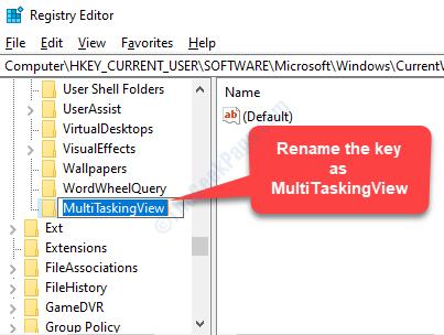 New Key Rename Multitaskingview