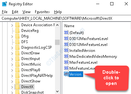 Registry Editor Directx Right Side Version Double Click