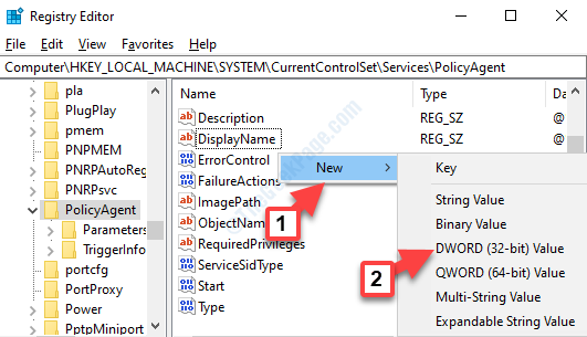 Registry Editor Navigate To Path Right Side Right Click New Dword (32 Bit)