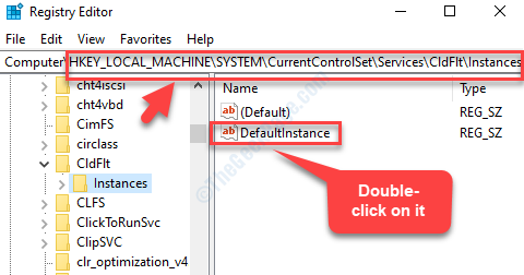 Registry Editor Navigate To Path Instances Defaultinstance Double Click